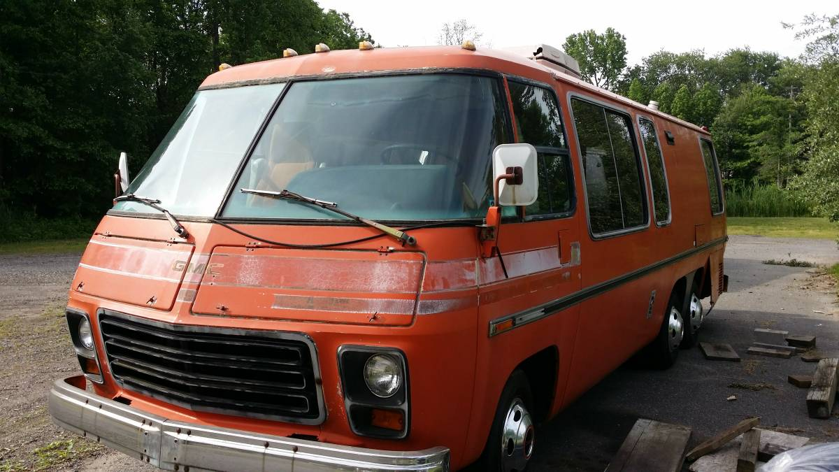 1973 gmc painted desert 26ft motorhome for sale in for Gmc motor homes for sale